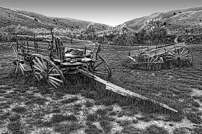 Bannack Ghost Town Photograph - Ghost Wagons Of Bannack Montana by Daniel Hagerman