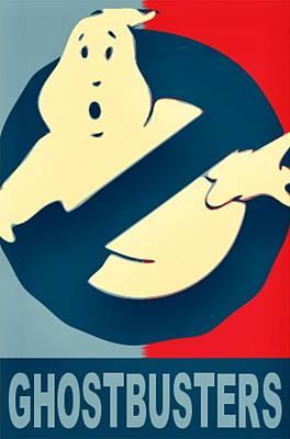 Obama Painting - Ghostbusters by Paul Van Scott