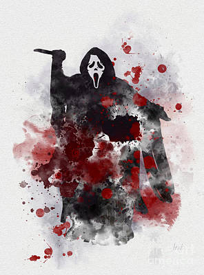 Horror Movies Mixed Media - Ghostface by Rebecca Jenkins