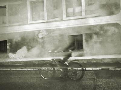 Photograph - Ghostly Biker by Siegfried Ferlin