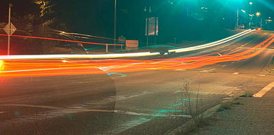 Photograph - Ghostly Cars by John Rossman