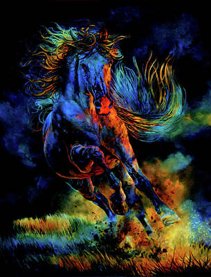 Spirit Horse Painting - Ghostly Encounter by Hanne Lore Koehler