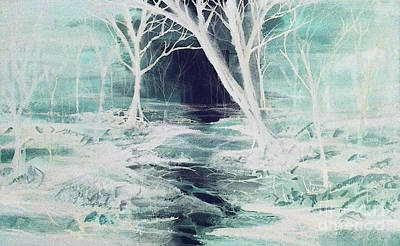 Painting - Ghostly Forest by Reed Novotny