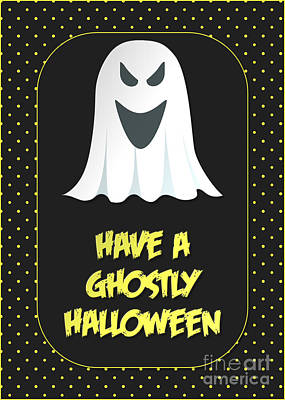 Digital Art - Ghostly Halloween Ghost by JH Designs