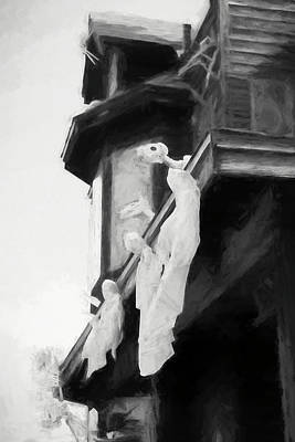 Digital Art - Ghostly Haunted House by Susan Stone