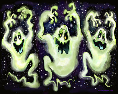 Digital Art - Ghostly Trio by Kevin Middleton