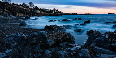 Photograph - Ghostly Waves Swirl Around Castle Rock by Jeff Folger