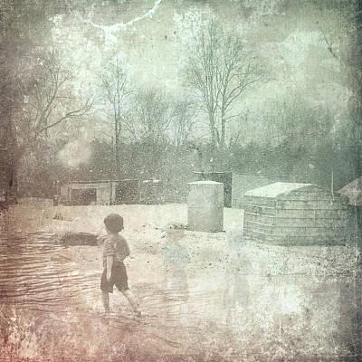 Digital Art - Ghosts And Shadows Xxix-winter Wonderland by Melissa D Johnston