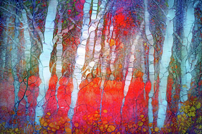 Digital Art - Ghosts In The Autumn Forest by Tara Turner