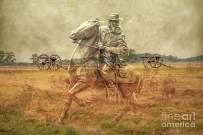 Confederate Monument Digital Art - Ghosts Of Gettysburg II by Randy Steele