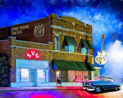 Johnny Cash Mixed Media - Ghosts Of Memphis - Sun Studio by Mark Tisdale