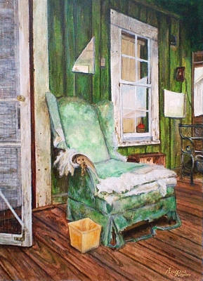 Worn Down Painting - Ghosts Of Strangers by Andrea Zimmerman-Rogers