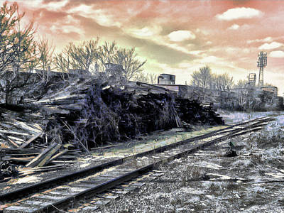 Digital Art - Ghosts Of The Rail by Leslie Montgomery