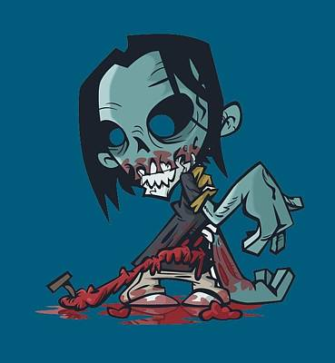 Ghoul T-shirt Art Print by Herb Strobino