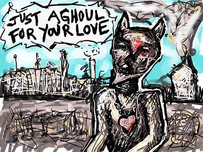 Digital Art - Ghoul Love by Joe Bloch