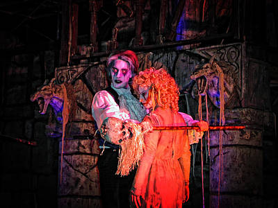Photograph - Ghoulish Couple by Mike Martin