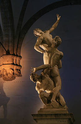 Photograph - Giambologna Stone Sculpture Florence Italy by Kelly Borsheim