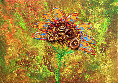 Painting - giant sun Flower by Erik Tanghe
