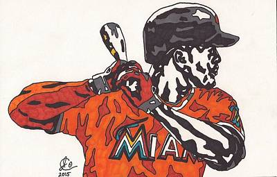 Drawing - Giancarlo Stanton 1 by Jeremiah Colley