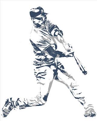 New York Yankees Mixed Media - Giancarlo Stanton New York Yankees Pixel Art 3 by Joe Hamilton