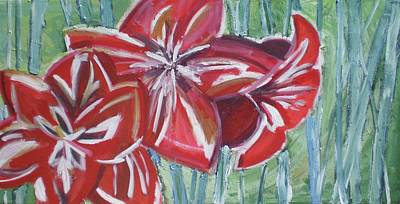 Painting - Giant Amaryllis by Rebecca Gilsdorf