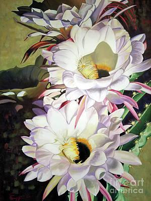 Painting - Giant Argentine Cactus by Ekaterina Stoyanova