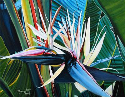 Marionette Painting - Giant Bird Of Paradise by Marionette Taboniar
