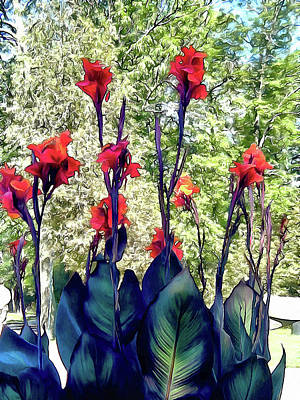 Photograph - Giant Cannas by Leslie Montgomery