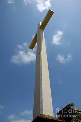 Photograph - Giant Christian Cross At Gora Qabaristan Cemetery Karachi Pakistan by Imran Ahmed
