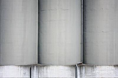 Factory Photograph - Giant Concrete Silos by Jan Brons