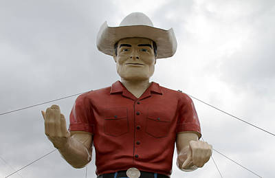 Photograph - Giant Cowboy Portrait by Tony Grider