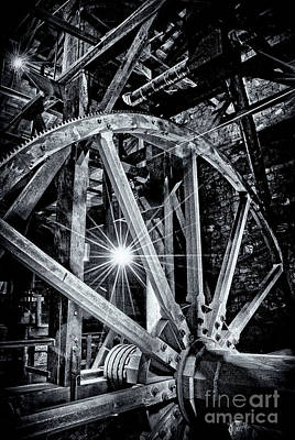 Photograph - Giant Drive Wheel by Paul W Faust - Impressions of Light
