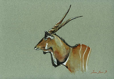 Antelope Wall Art - Painting - Giant Eland by Juan  Bosco