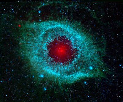 Photograph - Giant Eye Helix Nebula by Mark Kiver