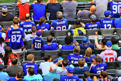 Photograph - Giant Fans Vote With Their Jerseys by Allen Beatty