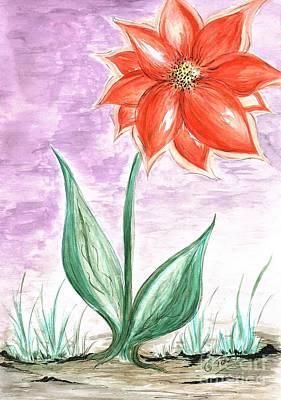 Mixed Media - Giant Flower  by Teresa White