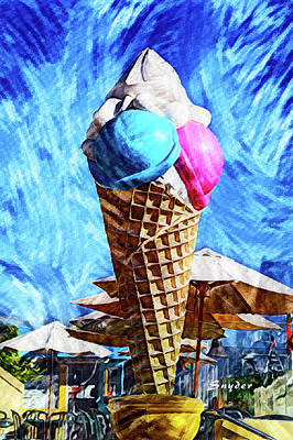 Photograph - Giant Ice Cream Cone by Floyd Snyder