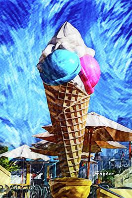 Modern Man Music - Giant Ice Cream Cone by Floyd Snyder