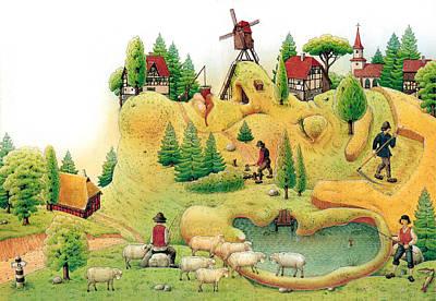Giant Landscape Art Print by Kestutis Kasparavicius