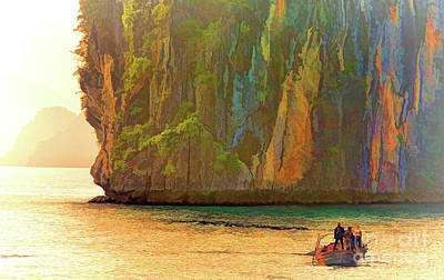 Photograph - Giant Limestone Ha Long Bay  by Chuck Kuhn