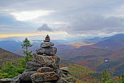 Photograph - Giant Mountain Rock Cairn Adirondacks Keene Valley Ny New York by Toby McGuire