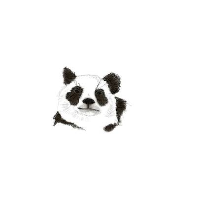 Digital Art - Giant Panda by Crystal Hubbard