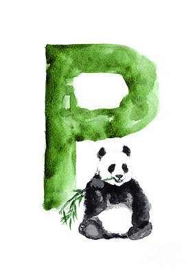 Giant Panda Mixed Media - Giant Panda Large Poster by Joanna Szmerdt