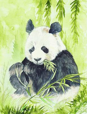 Clearing Painting - Giant Panda by Morgan Fitzsimons