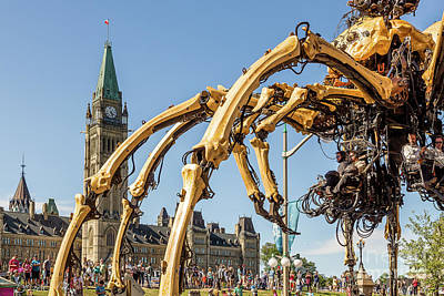 Giant Robot Photograph - Giant Spider Robot by Csaba Demzse