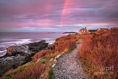 Giant Stairs Rainbow Art Print by Benjamin Williamson