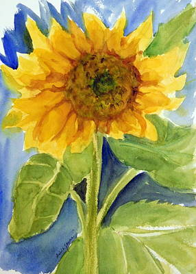 Painting - Giant Sunflower by Anna Jacke