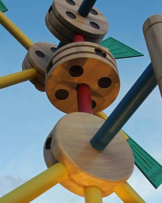 Giant Tinker Toys Art Print