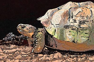 Painting - Giant Tortoise 1 by Jeelan Clark