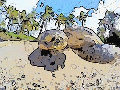 Painting - Giant Tortoise 2 by Jeelan Clark